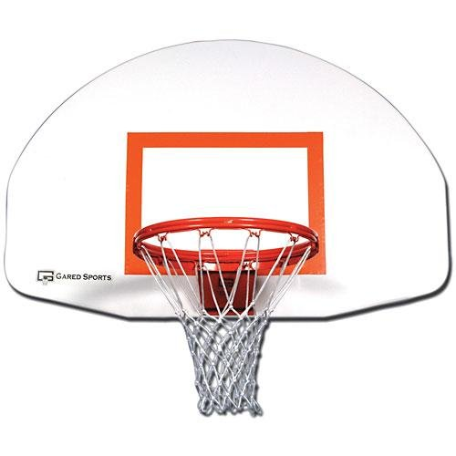 Gared Steel Front Mount Backboard w/Targ - Basketball