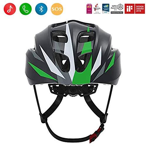Smart4u SH20 Smart Fahrradhelm, Rennradhelm für Männer und Frauen, Bluetooth-Musik- und One-Touch-Call-Fahrradhelm, Bestanden nach EN, CE, FCC, ROHS Sicherheitszertifizierungen