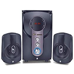 iBall Hi-Basss 2.1 Speaker – Built-in FM Radio and Multiple Equalizers with LED Display and Remote Control, Black,iBall,Hi-Basss,iBall speaker,iBall speaker Wired,speaker iBall Hi-Basss,usb speaker