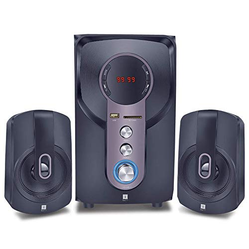 iBall Hi-Basss 2.1 Speaker - Built-in FM Radio and Multiple Equalizers with...