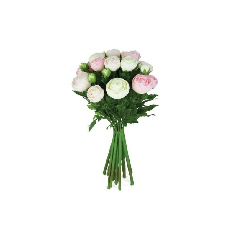 silk flower arrangements floristrywarehouse artificial silk flowers ranunculus arrangement cream pink 15 stems 13 inches
