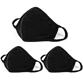 Aooba 3 Pcs Fashion Protective Face Masks, Unisex Black Dust Cotton Mouth Masks, Washable, Reusable Masks 7 <p>❥(^_-)Package Includes 3 pcs of cotton mouth masks.It's made of high quality cotton,2layer cotton blend,hygroscopic and breathable。 ❥(^_-)Wearing this face mouth mask, you could be protected from dust, small particles on air, pollen and much more. Anti-dust, anti-odor, washable and reusable. ❥(^_-)One size fit all. With stretchy adjustable earloops for closely fit,preventing leaving trace on your face after taking off,easy to wear and take off. ❥(^_-)Fashion protective face mask windproof mouth is perfect for daily wear to protect you from droplets,smog,dust, ash and so on.On the other hand,it can protect your privacy。 ❥(^_-) Attiction, if you like this produce, believe Aooba, choose Aooba!</p>