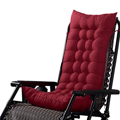 Minimei Patio Chaiselongue Kissen, Rutschfestes, extra großes, überfülltes Schaukelstuhl-Pad-Set für Garden Patio Matratze für Schwerelosigkeit Stuhl mit Krawatten