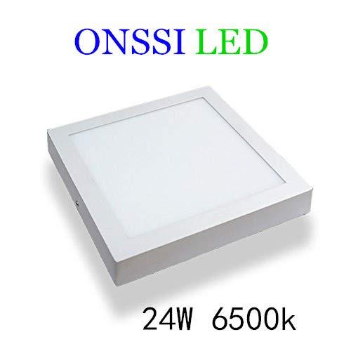 Plafón LED Cuadrado 30x30 cm,24W Blanca Fria 6000k-6500k Panel LED Superficie Alta Luminosidad Lámpara de Techo ONSSI LED