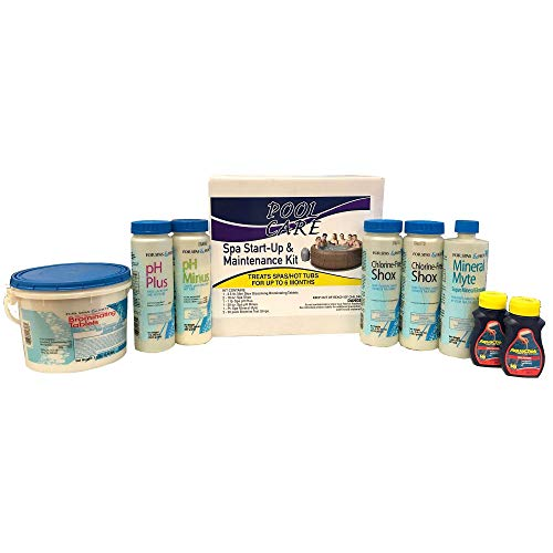 Qualco Pool Care 14895 6 Month Spa Hot Tub Chemical Kit with Bromine + Shock Treatment