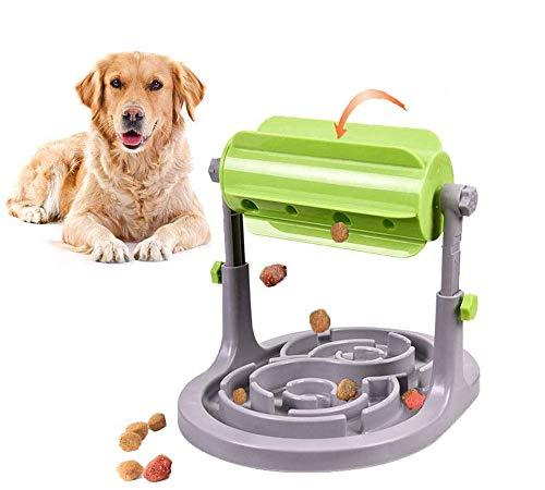 Alsanda Interaktives Hundepielzeug Futter Napf 2in1 für Hunde und Katzen | Gesunder Snackspender | Unzersörbares Intelligenzspielzeug für Hunde | Mit Anti Schling Napf | BPA-Frei