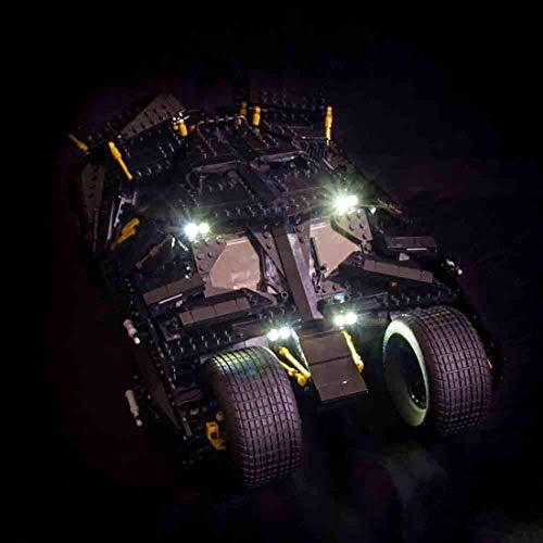 NLRHH Juego de Luces de (Batman Tumbler) Generación de Modelos Kit - Kit de iluminación Juego de Luces LED Compatible con 76023 (Juego no Incluido) Peng