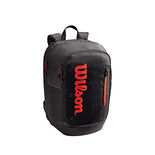Wilson Team Backpack Mochila, Adultos Unisex, Black/Red (Multicolor), Talla Única