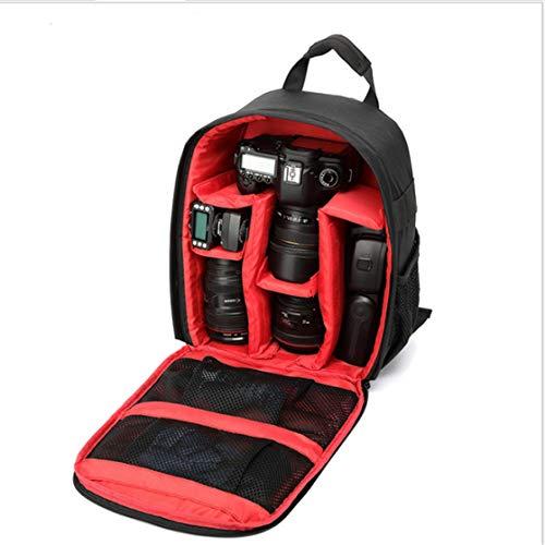 DSGYZQ Bolsa de cámara Digital SLR a Prueba de Agua a Prueba de Agua a Prueba de Golpes Transpirable Pequeña Mochila Bolsa de fotografía al Aire Libre,Rojo