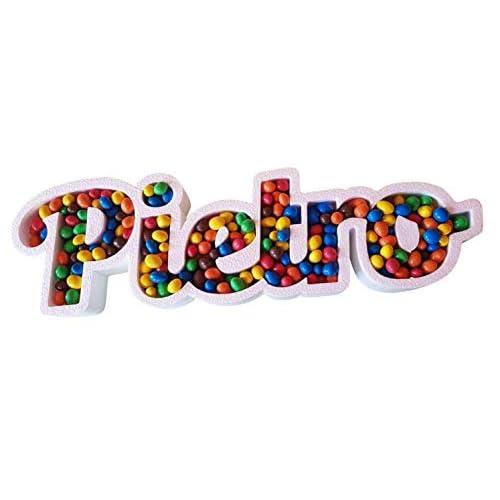 PORTACONFETTI - EXTRA LARGE - RESISTENTI - NASCITA MATRIMONIO LAUREA BATTESIMO IN POLISTIROLO Nome Scritta Personalizzata confettata confetti caramelle - @FoamArtitaly -