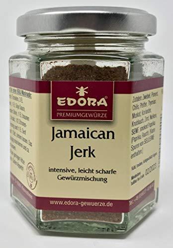 Premium Qualität Gewürz EDORA Schraubglas Grill + BBQ Gewürzzubereitung Jamaican Jerk BBQ Marinade Gewürzmischung leicht scharf 70 Gramm