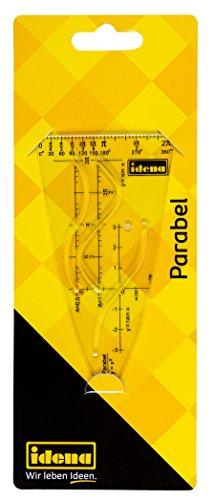 Idena 602408 - Parabel-Schablone, transparent