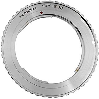 Fotodiox Lens Mount Adapter - Contax/Yashica (CY) SLR Lens to Canon EOS (EF, EF-S) Mount SLR Camera Body