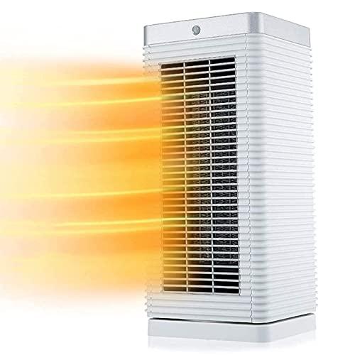 JIEZ Radiador de Ventilador portátil, baño doméstico a Prueba de Agua, temporización de 7 Horas, calefacción de 2 velocidades, Cabezal de agitación silencioso de bajo Ruido Que Ahorra energía, 20