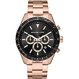 Michael Kors Men's Layton Quartz Watch with Stainless Steel Strap, Pink, 22 (Model: MK8824)