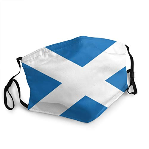 Flagge Schottland Face Masks Washable Reusable Safety Masks Protection from Dust Pollen Pet Dander Other Airborne Black