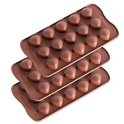 Karamoda 3PCS 15 Holes Silicone Mold For Chocol...