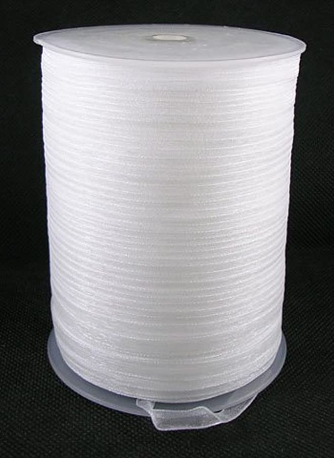 PEPPERLONELY Brand 500 Yards/Roll 6mm White Organza Ribbon
