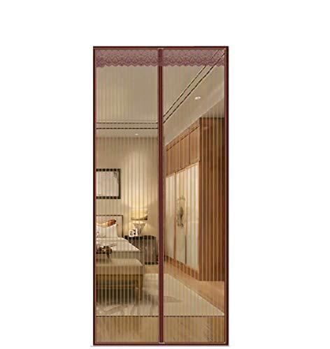 FENG Cortina magnética para protección contra insectos, para puerta de coche, cierre magnético, sin perforación, para puerta de balcón y terraza, marrón, 130x265cm