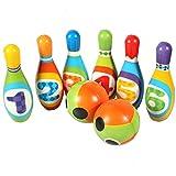 ADLIN Al Aire Libre Juguetes educativos, Juguetes de los niños Bowling Set, Espuma Bolos Juguetes, Juegos de Interior al Aire Libre de los Bolos for el Desarrollo temprano/Deportes/Preescolar/Lo