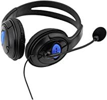 Chat Gaming Headset Wired headset for Sony Playstation 4 PS4 black