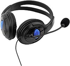 سماعة راس سلكية للدردشة والالعاب لجهاز سوني Playstation 4، لون اسود