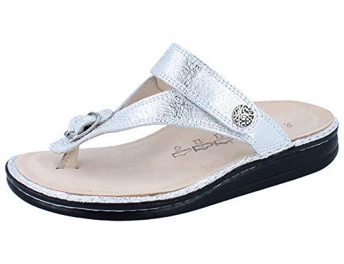 FinnComfort Damen Pantoletten Alexandria- 81524-641297 Silber 680036