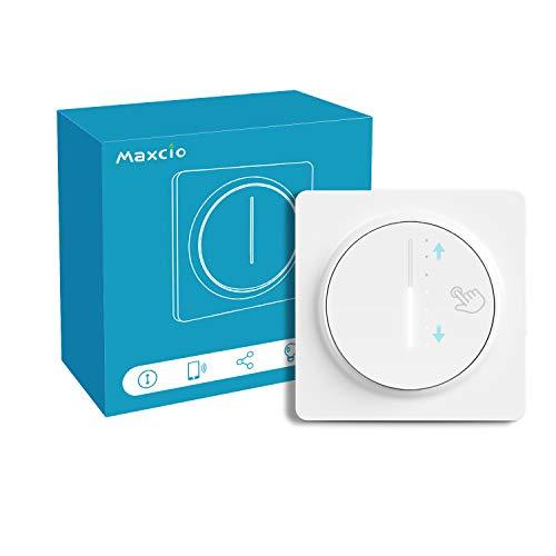 Alexa Gradateur de Lumière WiFi, Maxcio Interrupteur Variateur Intelligent Compatible avec Alexa et Google Home, Variateur LED Dimmable avec Minuterie, Contrôlé par L'APP SmartLife,Besoin Neutre Ligne