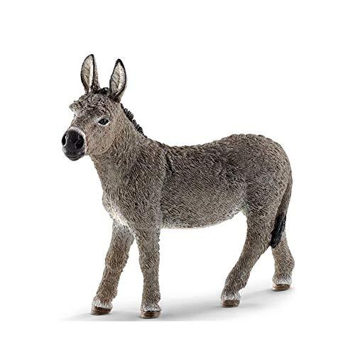 HAOZHAO Simulation Esel PVC Tier Modell Figur Spielzeug Garten Figuren Kinder Kinder Spielzeug Geschenk Wohnkultur (Color : A)