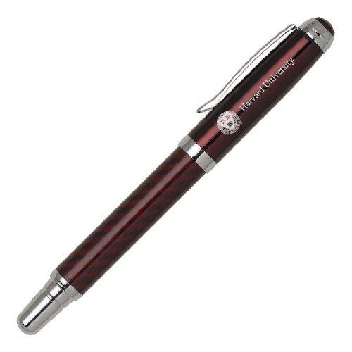 Carbon Fiber Rollerball Twist Pen - Harvard Crimson