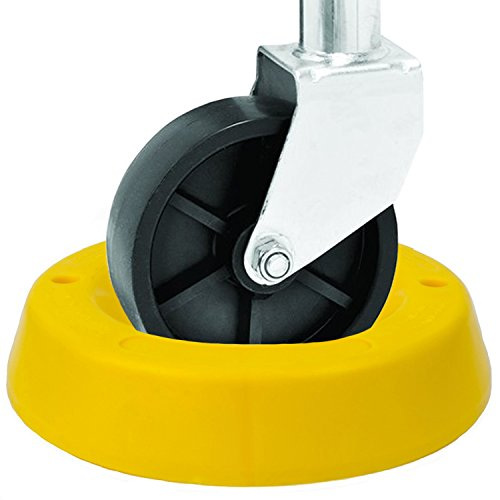 BUNKERWALL Trailer Tongue Jack Wheel Dock for Travel Trailer Jack Caster - High Visibility Yellow