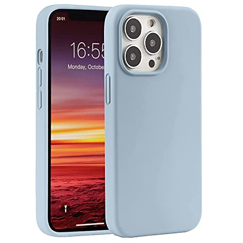 ZEHONGHTY Compatible with iPhone 13 Pro Max Case-6.7 inch(2021),Lining with Soft Microfiber Liquid Silicone Gel Rubber Full Body Protection Shockproof Cover Case (Sky Blue)