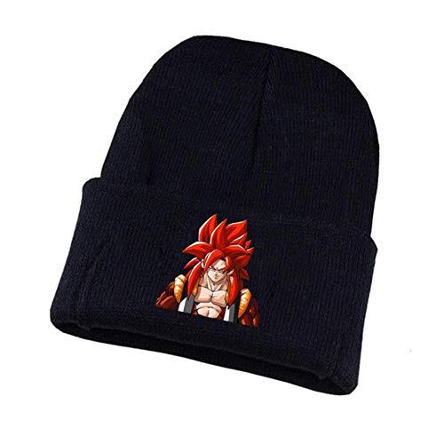 No Anime Dragon Ball Z Gorro De Punto Sombrero De Cosplay Unisex Estampado Casual Sombrero De Algodón Adolescentes Gorro De Invierno, 61, Talla Única