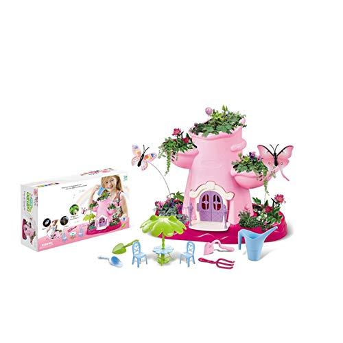 16 Stück Garden Spielzeugset, Magischer Feen Garten, Garten für Kinder zum Selber Pflanzen & Spielen, Feen Garten Set, Kreativset,Märchengartenhäuschen - magisches Gartenspielset für Kinder,Bastelset