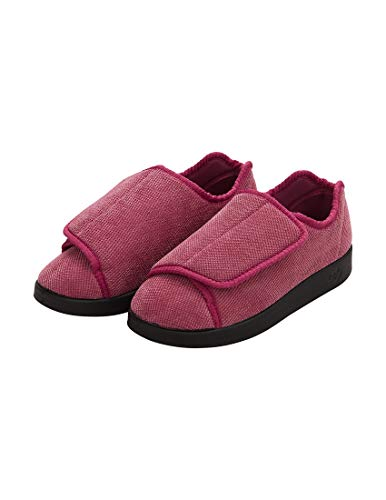 Womens Extra Extra Wide Width Adjustable Slippers - Choice of Colors