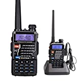 Mengshen UV-5RE 5W Dual Band UHF/VHF 400-480/136-174 MHz Portable Ham Radio Transceiver DTMF CTCSS Two Way Radio with Free Earphone 5RE