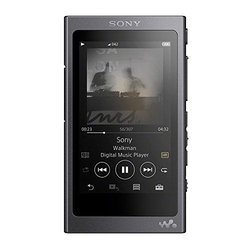 ソニー ウォークマン Aシリーズ 64GB NW-A47 : Bluetooth/microSD/ハイレゾ対応 最大39時間連続再生 2017年モデル グレイッシュブラック NW-A47 B