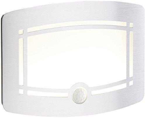 Lunartec Wandleuchte mit Batterie: 2-stufige Akku-LED-Wandleuchte, Bewegungs- & Lichtsensor, 40 lm (Wandleuchte Batterie Akku)
