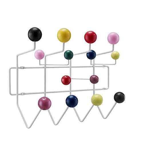 Farbenfrohe Wandgarderobe  Garderobe Mit 14 Haken  Hakenleiste Mit Bunten Kugeln Garderobe Bälle Kleiderhaken 1PCS