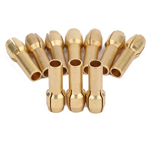 Dophee 10 stuks koperen spantangen schroefmoer boorhouder voor 3,2 mm Dremel duurzame elektrische boor draaigereedschap precisiegereedschap