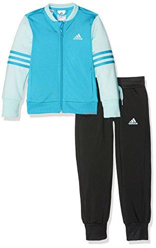 adidas Mädchen Bomber Jacket Trainingsanzug, Vapour Blue/Ice Mint/Black, 140