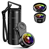 (2019 New) AMIR Phone Camera Lens, 3 in 1 Camera Lens Kit 185°