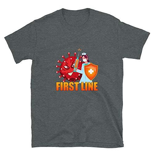 Net4Client First Line Coronavirus Short-Sleeve Unisex T-Shirt