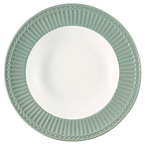 GreenGate- Pasta Teller/Deep Plate - Alice Dusty Mint D: ca 21,5 cm
