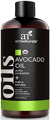 ArtNaturals USDA Organic Avocado Oil - (16 Fl Oz / 473ml) - Massage Oil & Moisturizer – 100% Pure Expeller...
