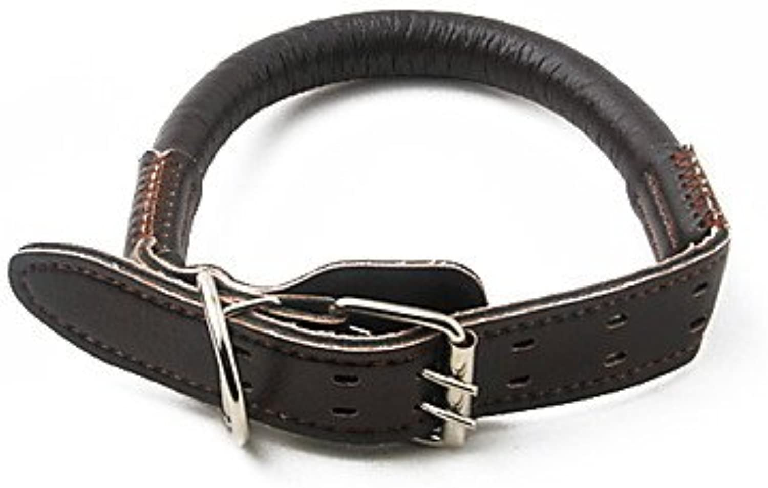 Quick shopping Highgrade Doublebuckle Brown Leather Leash for Dogs