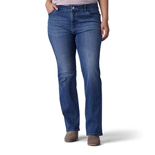 LEE Women's Plus-Size Flex Motion Regular Fit Bootcut Jean, Rayne, 18W Medium