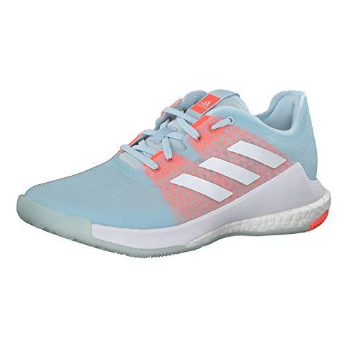 Adidas Crazyflight W, Zapatillas Deportivas Mujer, Sky Tint/FTWR White/Signal Coral, 41 1/3 EU ✅