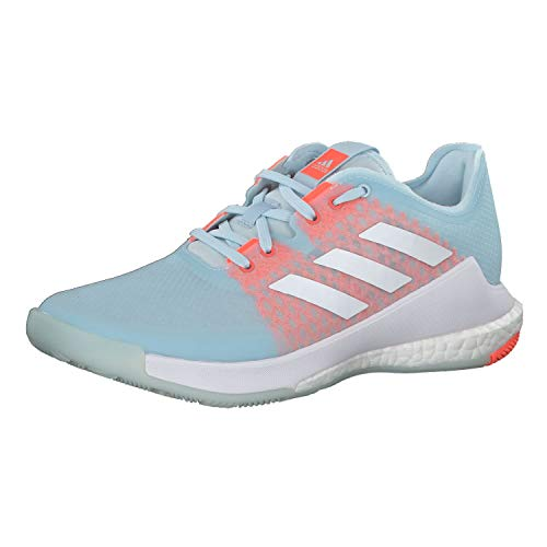 Adidas Crazyflight W, Zapatillas Deportivas Mujer, Sky Tint/FTWR White/Signal Coral, 42 EU