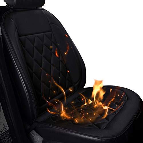 Nerplro - Cojín de asiento de coche climatizado, 12 V CC, cubierta de asiento de coche con calefacción para asiento delantero de coche, cojín calentado para invierno